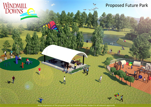 3D Design by Creative Shots Studio - Poster in A0 or A1 of Windmill Downs Park