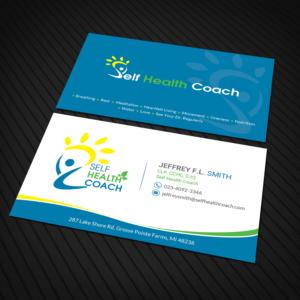 business card design job self health coach winning design by sandaruwan