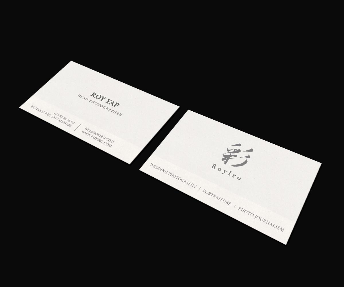 Modern elegant business business card design for roy iro by jk18 business card design by jk18 for roy iro design 15422797 reheart Choice Image