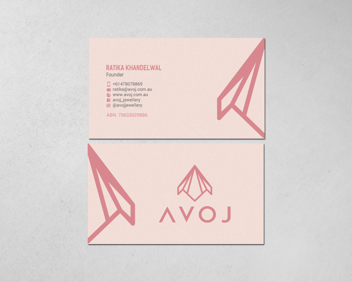 Business Card Design By Chandrayaancreative For AVOJ