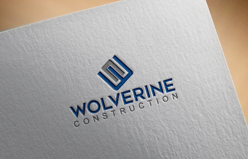 Masculine, Modern Logo Design for Wolverine Construction LLC by cmam ...