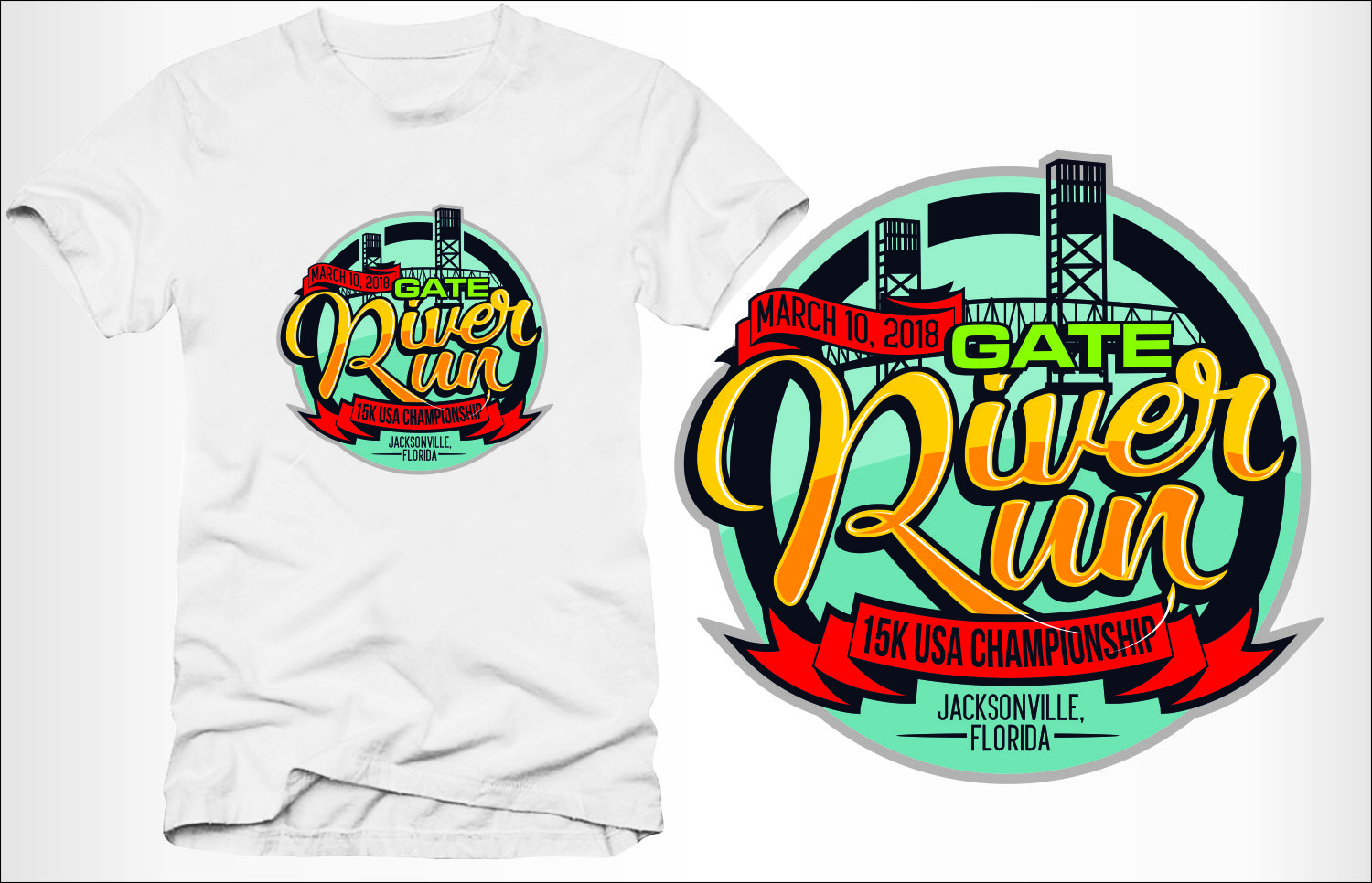 Professional Bold T Shirt Design For Gate Petroleum By Eightball