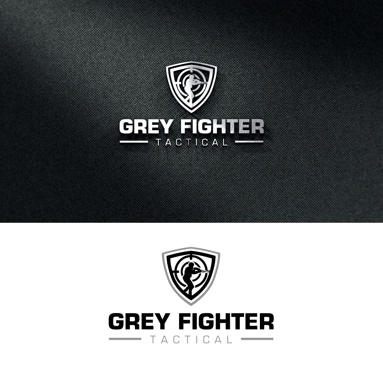 Professional Bold It Company Logo Design For Grey Fighter Tactical
