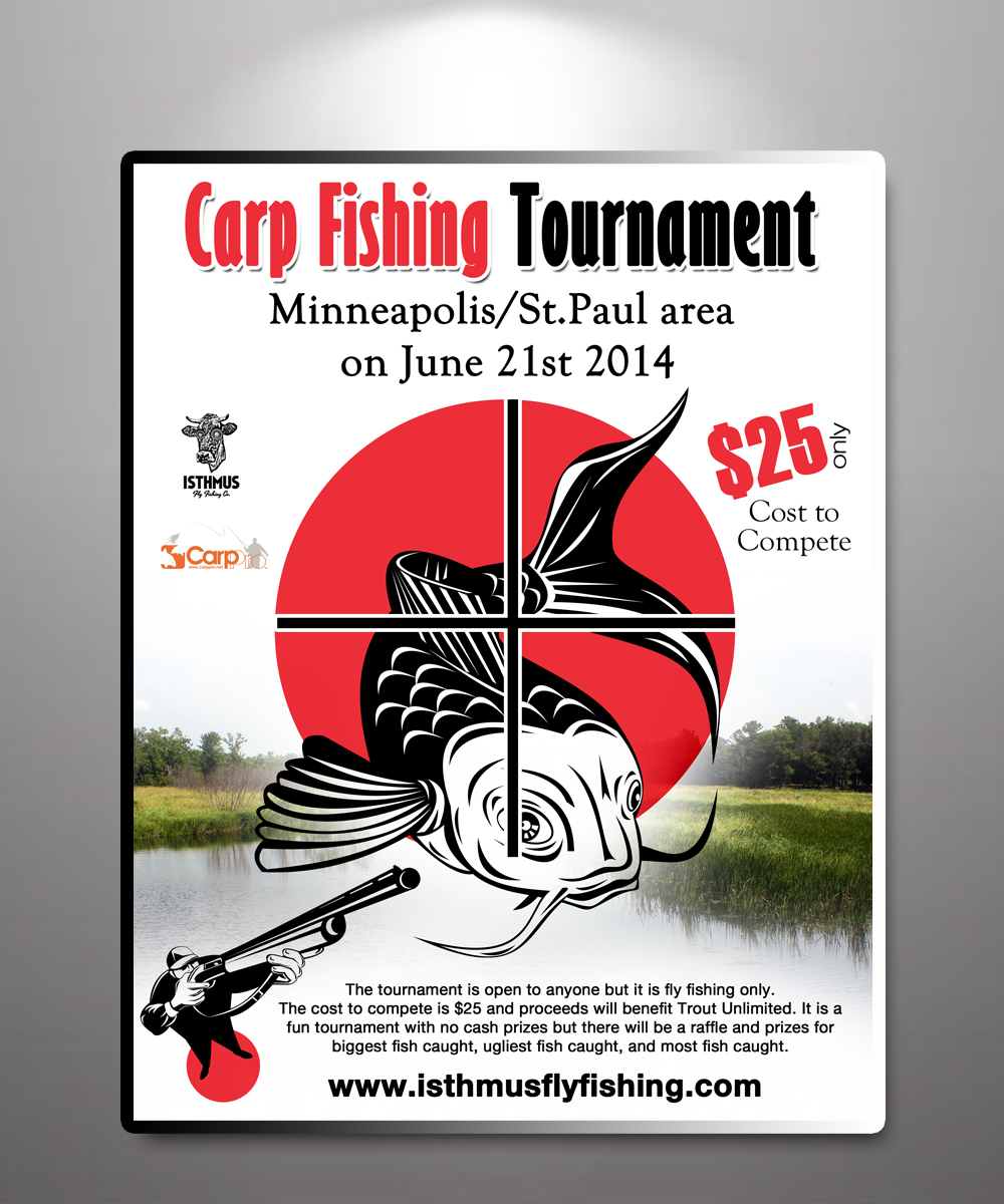 Poster design uk - Poster Design By Uk For Carpicide 2014 Carp Fishing Tournament Presented By Isthmus Fly Fishing