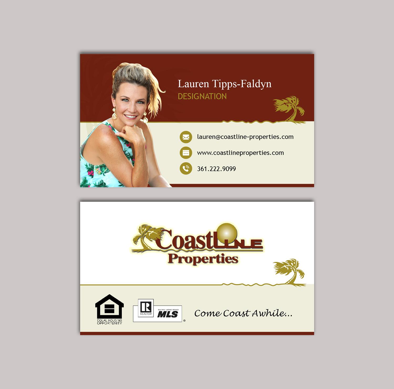 Upmarket modern real estate agent business card design for business card design by titan designer for coastline properties design 15458342 reheart Images
