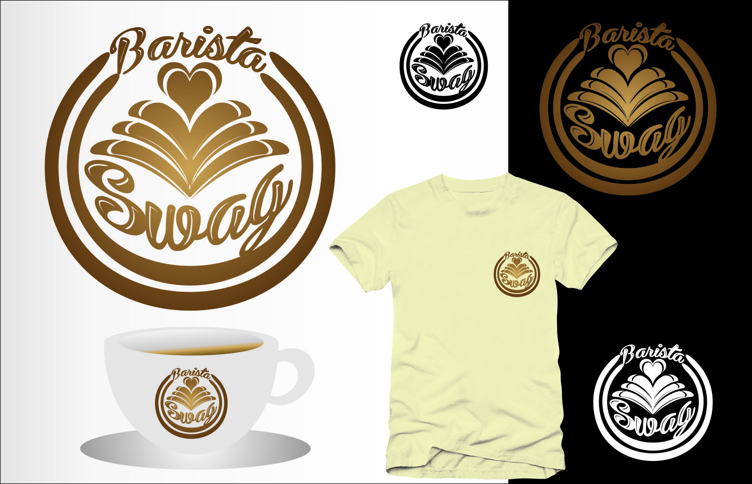 Professional Modern Coffee Shop Logo Design For Barista Swag By