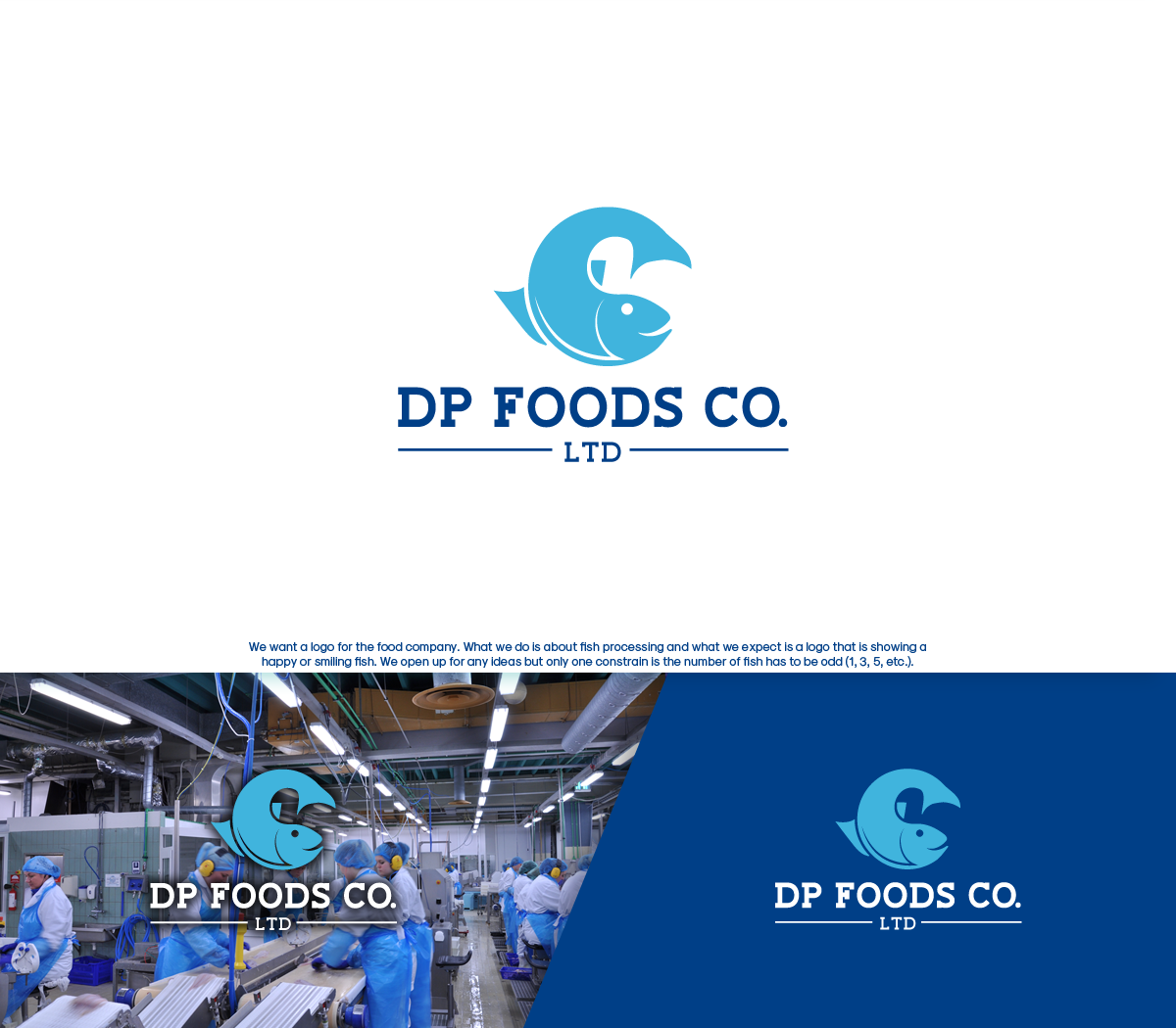 Professional Elegant It Company Logo Design For Dp Foods Co Ltd