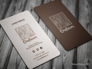 Woodworking business card design galleries for inspiration see project description business card design by virtual designs colourmoves