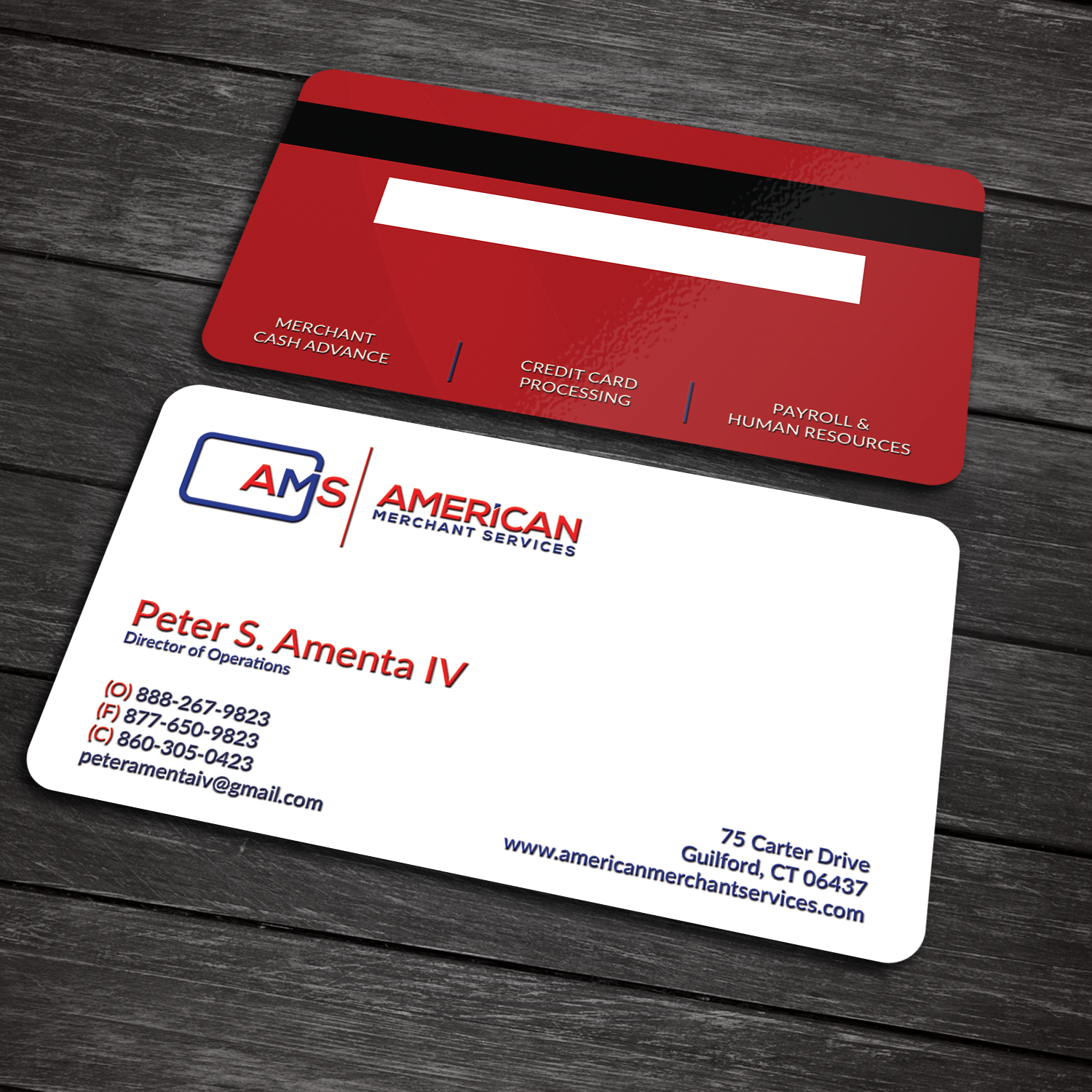 Elegant playful credit card business card design for american business card design by sanrell for american merchant services llc design colourmoves