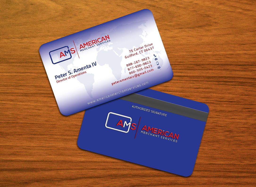 Elegant, Playful, Credit Card Business Card Design for American ...