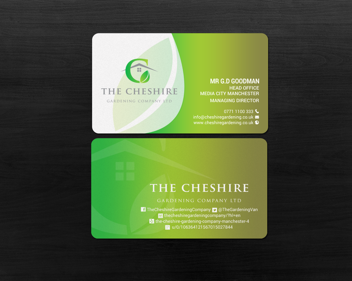 Professional, Elegant, Landscape Gardening Business Card Design for ...