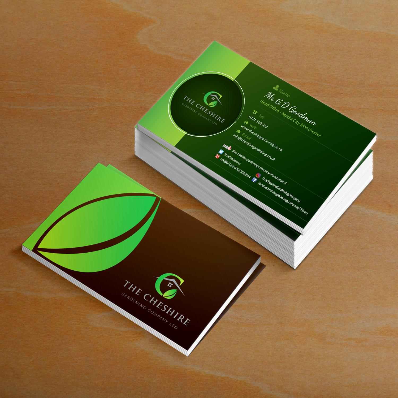 Professional, Elegant, Landscape Gardening Business Card Design for ...