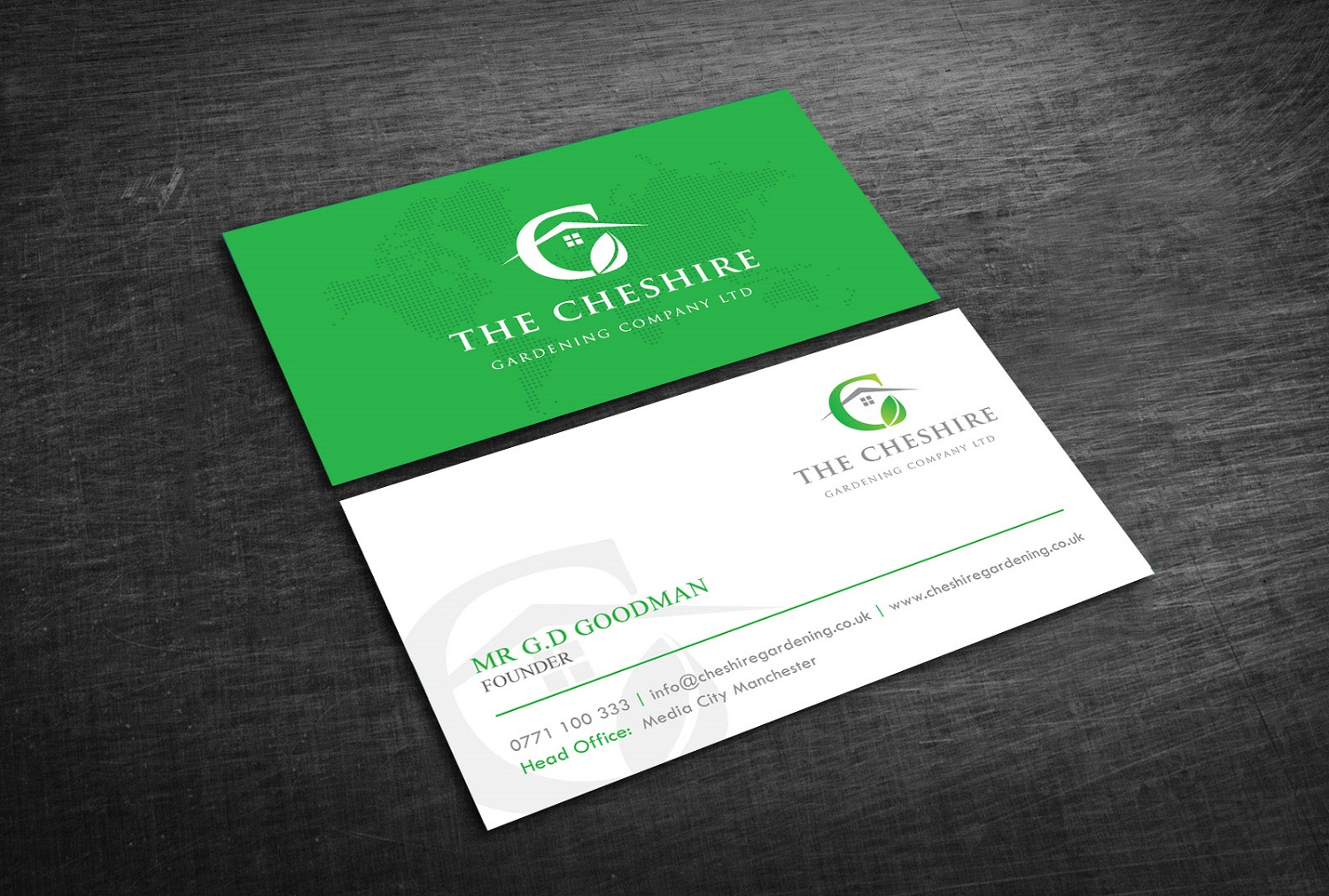 Professional elegant landscape gardening business card design for business card design by graphic flame for the cheshire gardening company ltd design 15454482 colourmoves