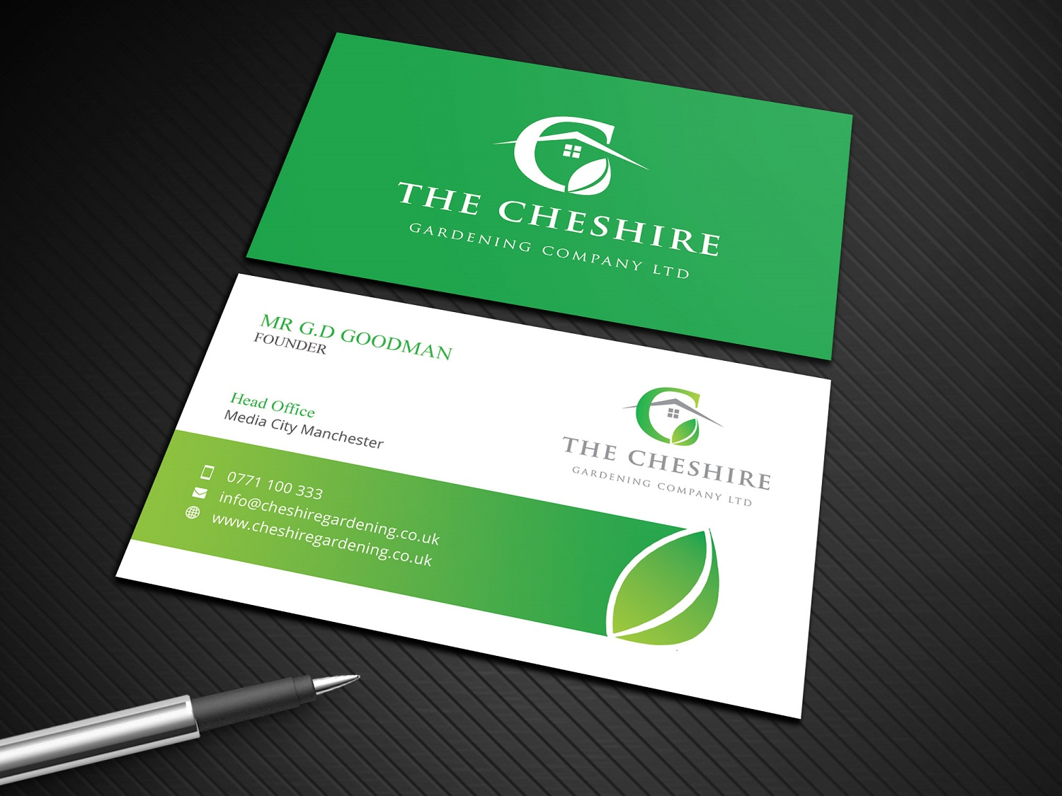 business card design by rajlogo for business card design project for the cheshire gardening company