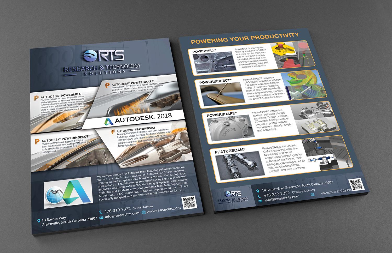Professional, Modern, Manufacturer Flyer Design for Research