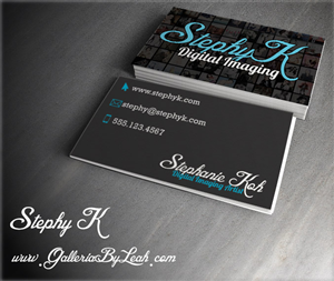 Business Card Design by galleria.by.leah - Photo Retoucher needs unique and stylish busine...
