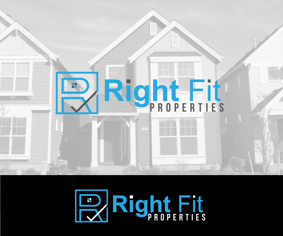 modern professional business logo design for right fit properties