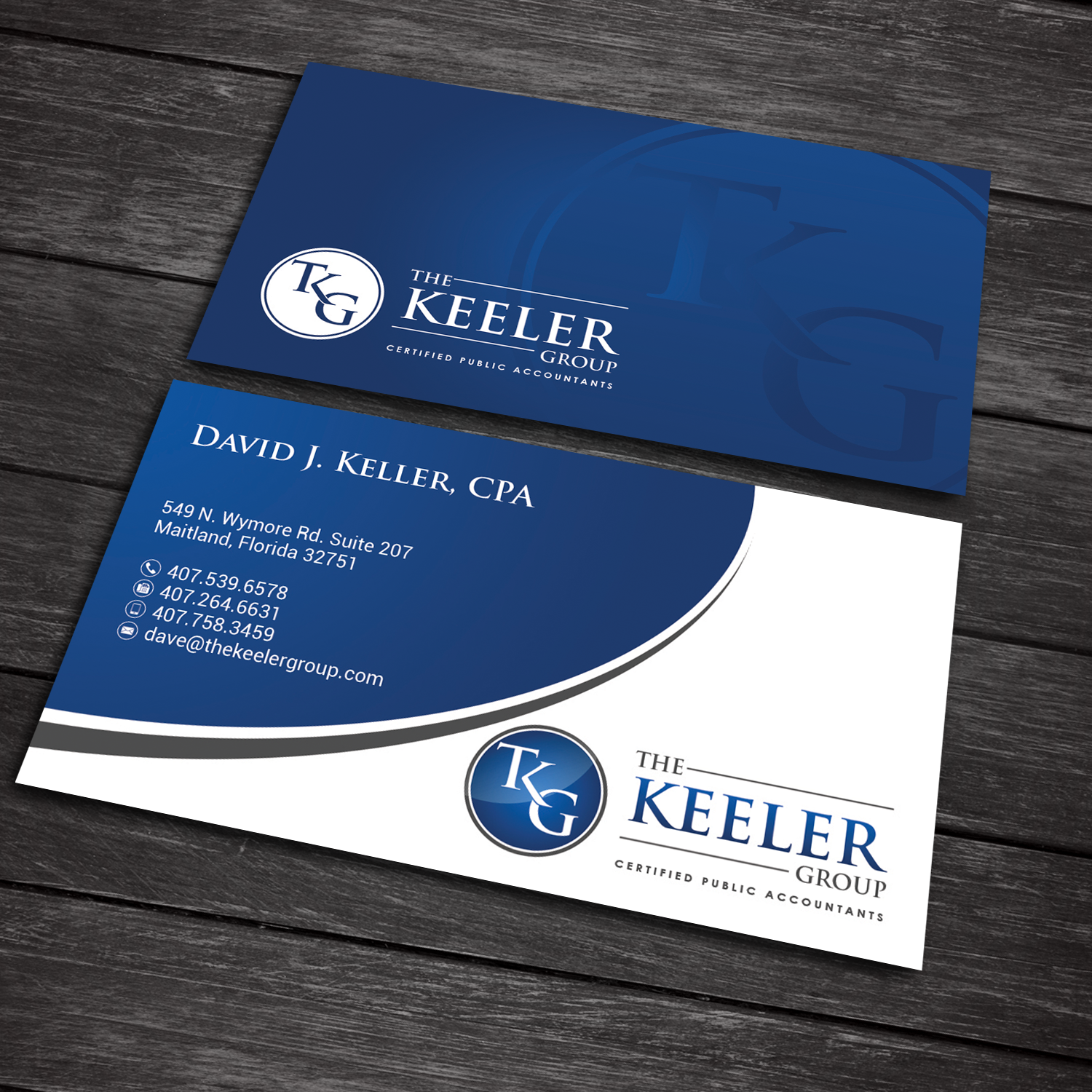 bold professional accountant business card design for the keeler group in united states design 15445568 - Accountant Business Card