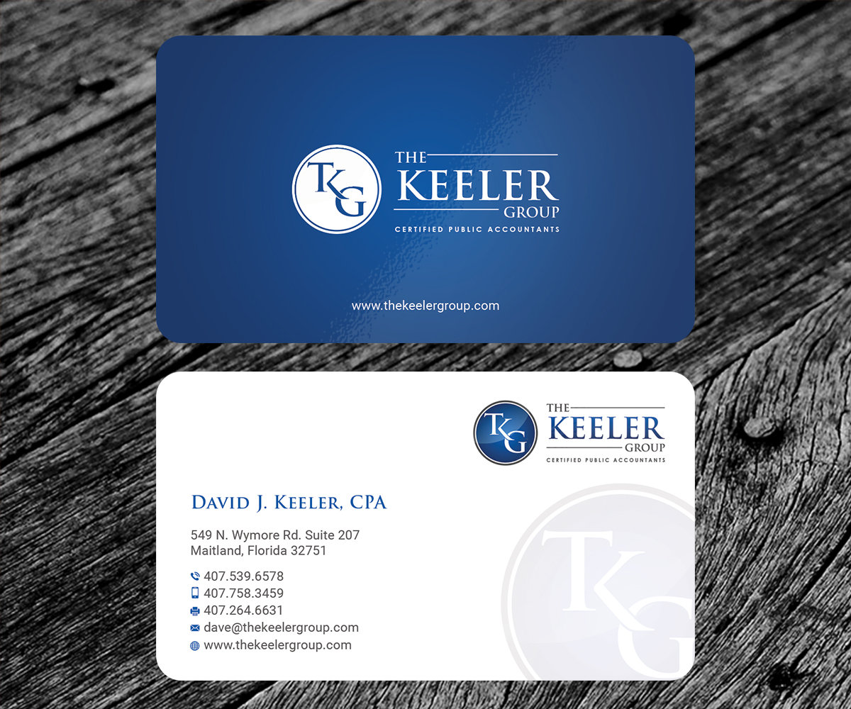 Bold, Professional, Accountant Business Card Design for The Keeler ...
