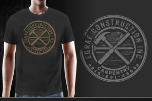Egraf Construction Inc T Shirt Design By Gek