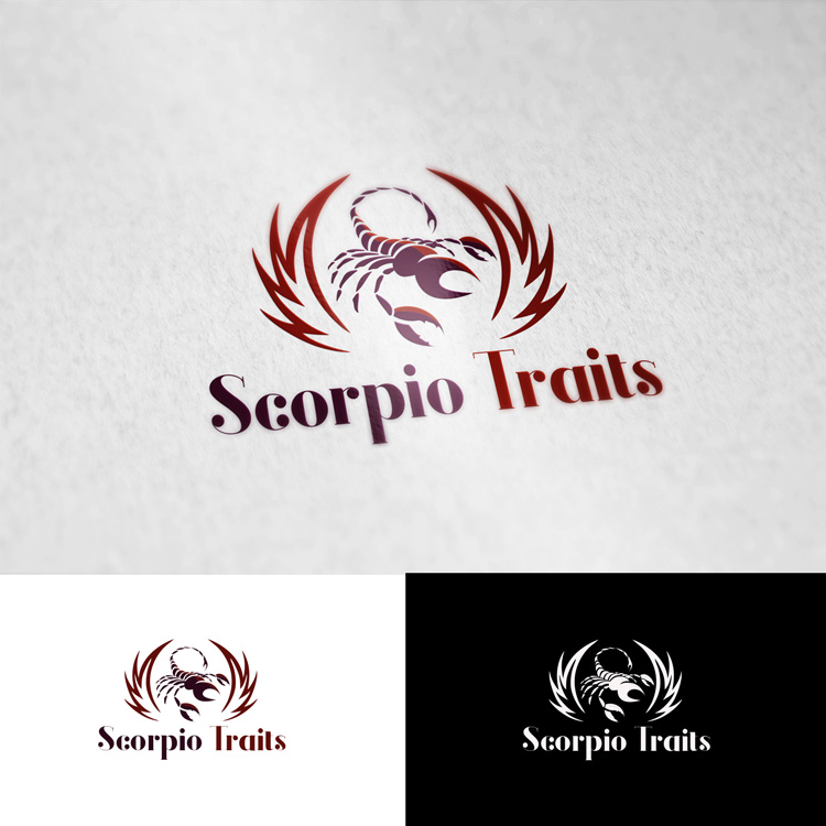 Elegant, Playful Logo Design for Scorpio Traits by