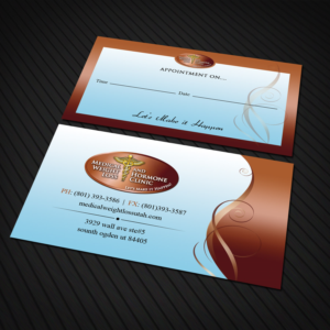 Modern professional business card design job business card brief business card design job appointments cards for my business medical weight loss clinic colourmoves