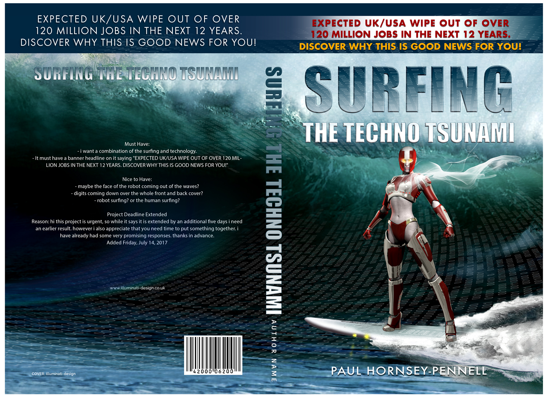 Poster design jobs uk - Book Cover Design By Illuminati Design For Book Cover For Title Surfing The Techno