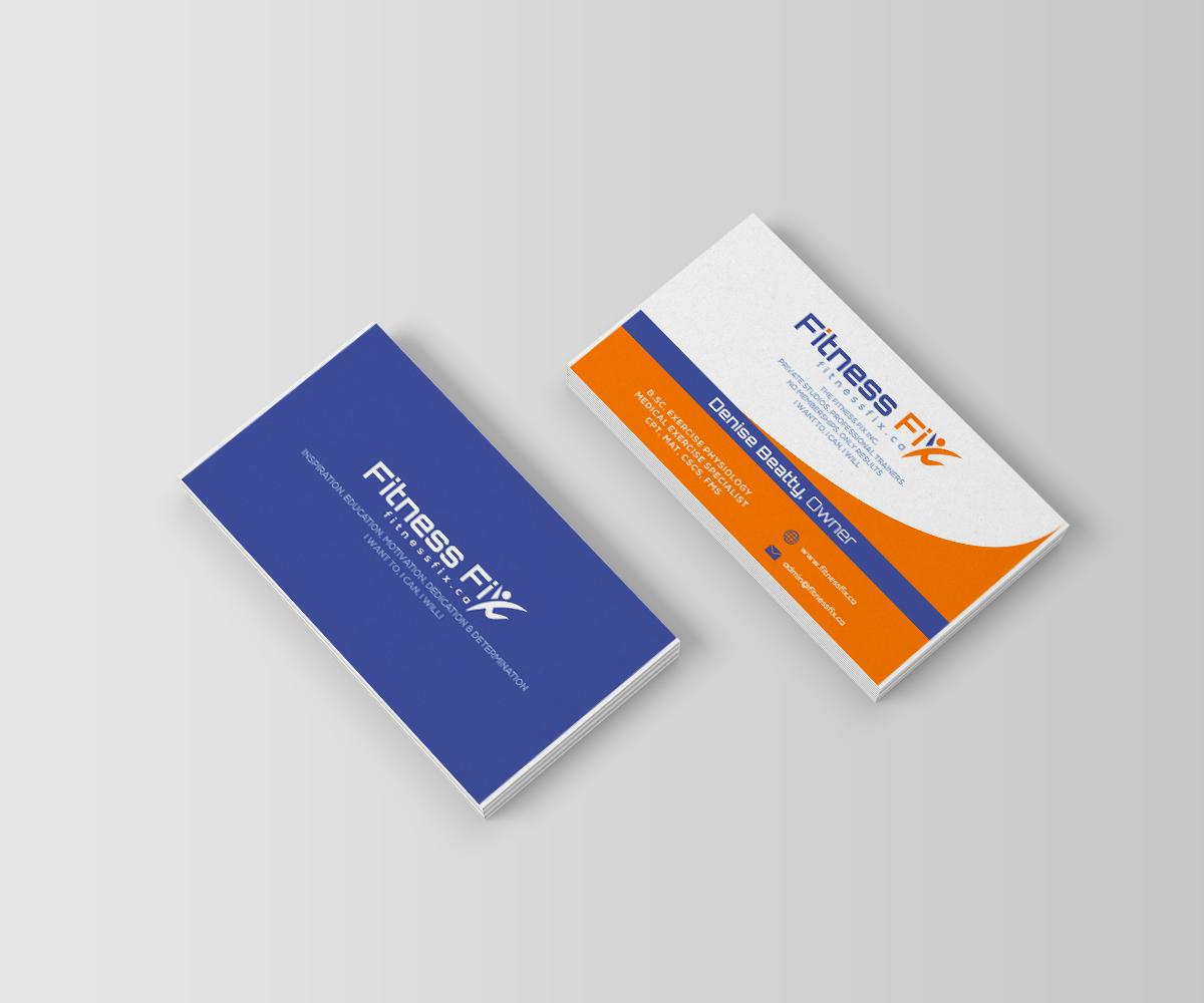 Design De Carte Visite Business Pour Fitness Fix En Aux Canada