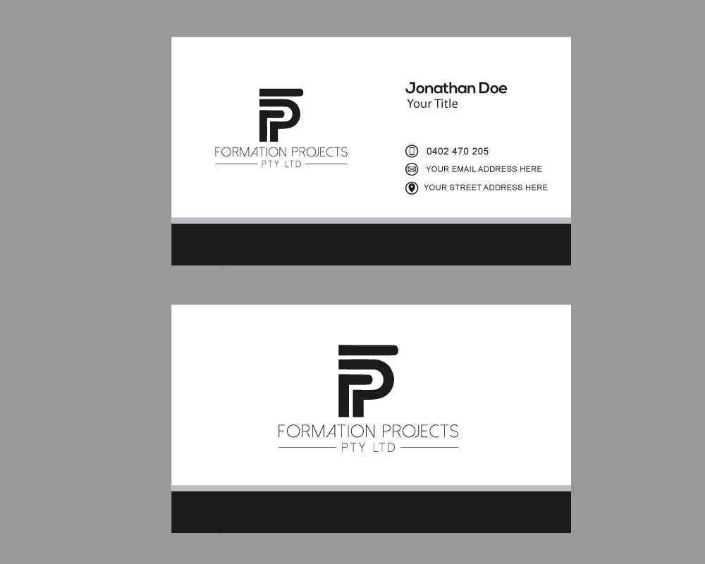 Serious Masculine Residential Construction Logo Design For