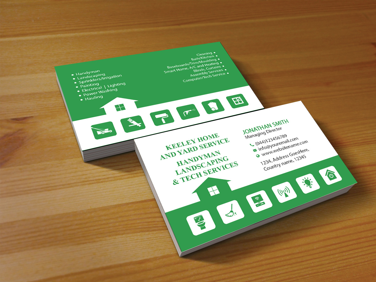 elegant playful handyman business card design for a company by