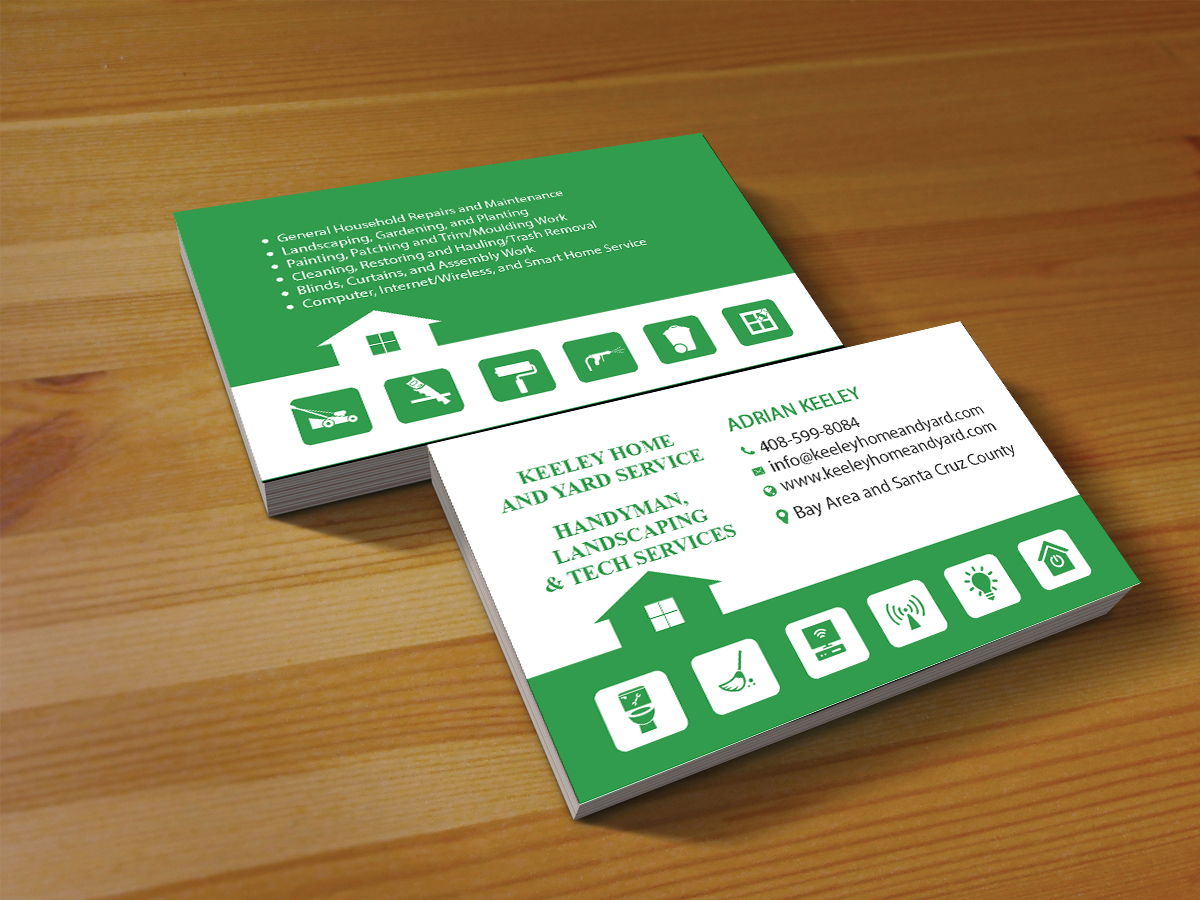 Elegant playful handyman business card design for a company by business card design by creations box 2015 for this project design 15579773 reheart Gallery