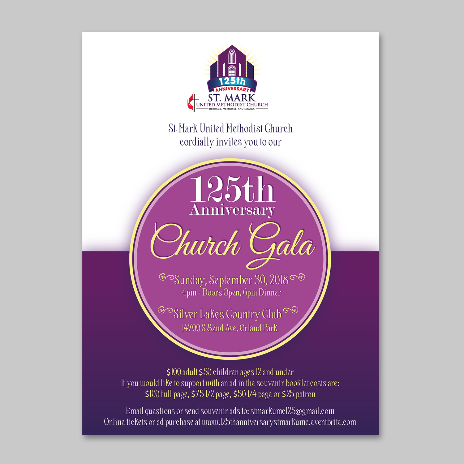 elegant traditional church invitation design for a company by