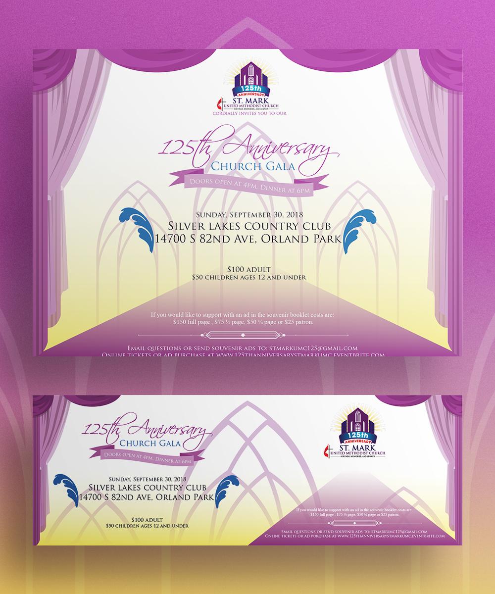 Elegant Traditional Church Invitation Design For A Company