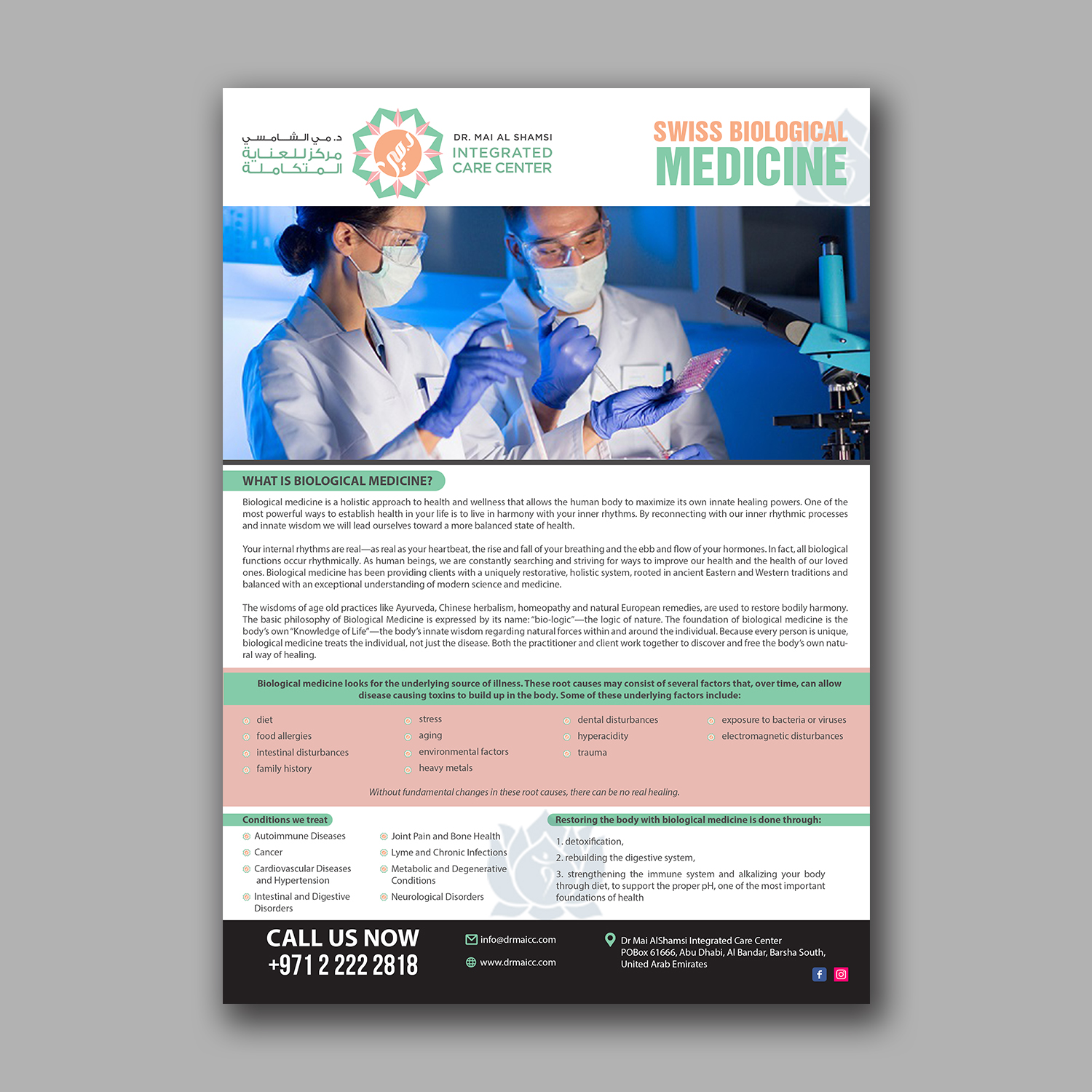 Bold Serious Health Care Flyer Design For A Company By Hih7 Design 15484665