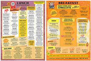 Menu Design by PATRICK KING GRAPHICS - Shaker Cafe - Menu Redesign