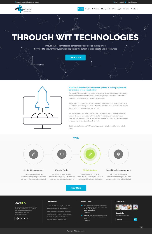 Modern Professional Web Design For Wit Technologies By Kingdom Vision Design 15867160