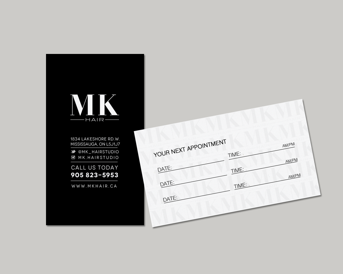 Modern, Professional, Hair And Beauty Business Card Design for a ...