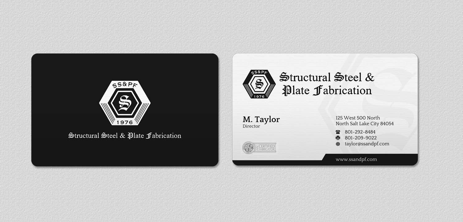 Bold Masculine Business Card Design For Structural Steel Plate