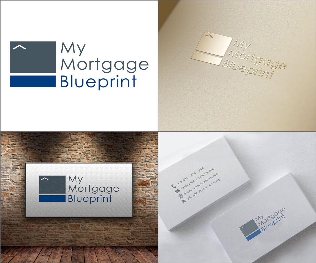 Professional bold logo design for my mortgage blueprint by ldyb logo design by ldyb for my mortgage blueprint design 15632324 malvernweather Gallery