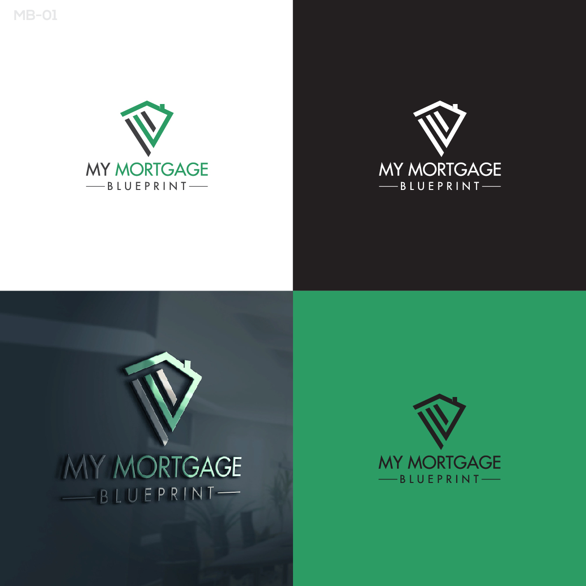 Professional bold logo design for my mortgage blueprint by esolbiz logo design by esolbiz for my mortgage blueprint design 15562630 malvernweather Gallery