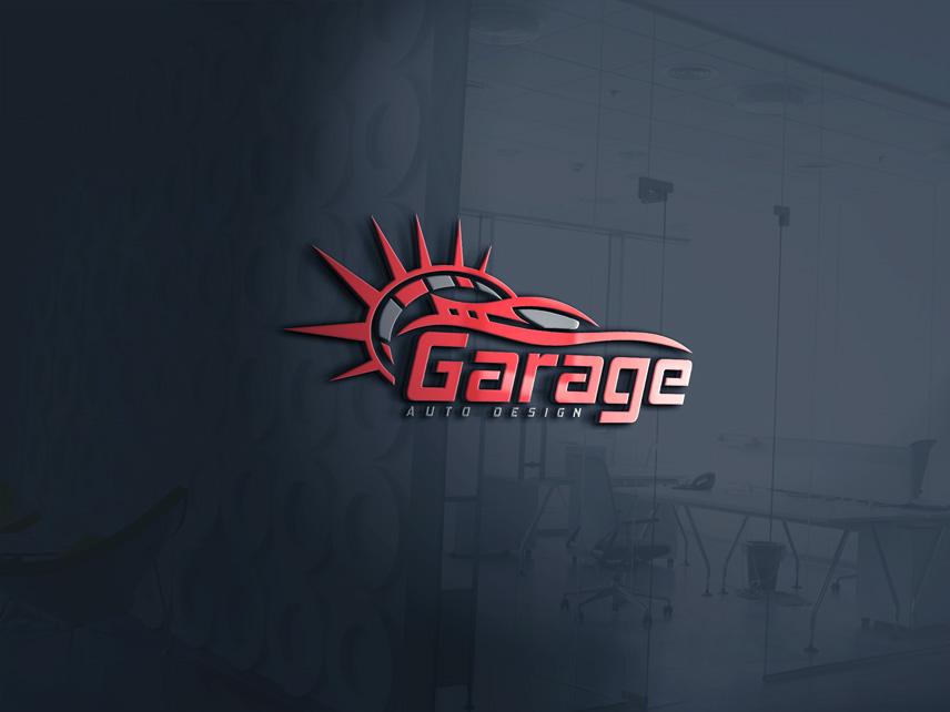 Moderno masculino dise o de logo for garage auto design for Design moderno garage indipendente