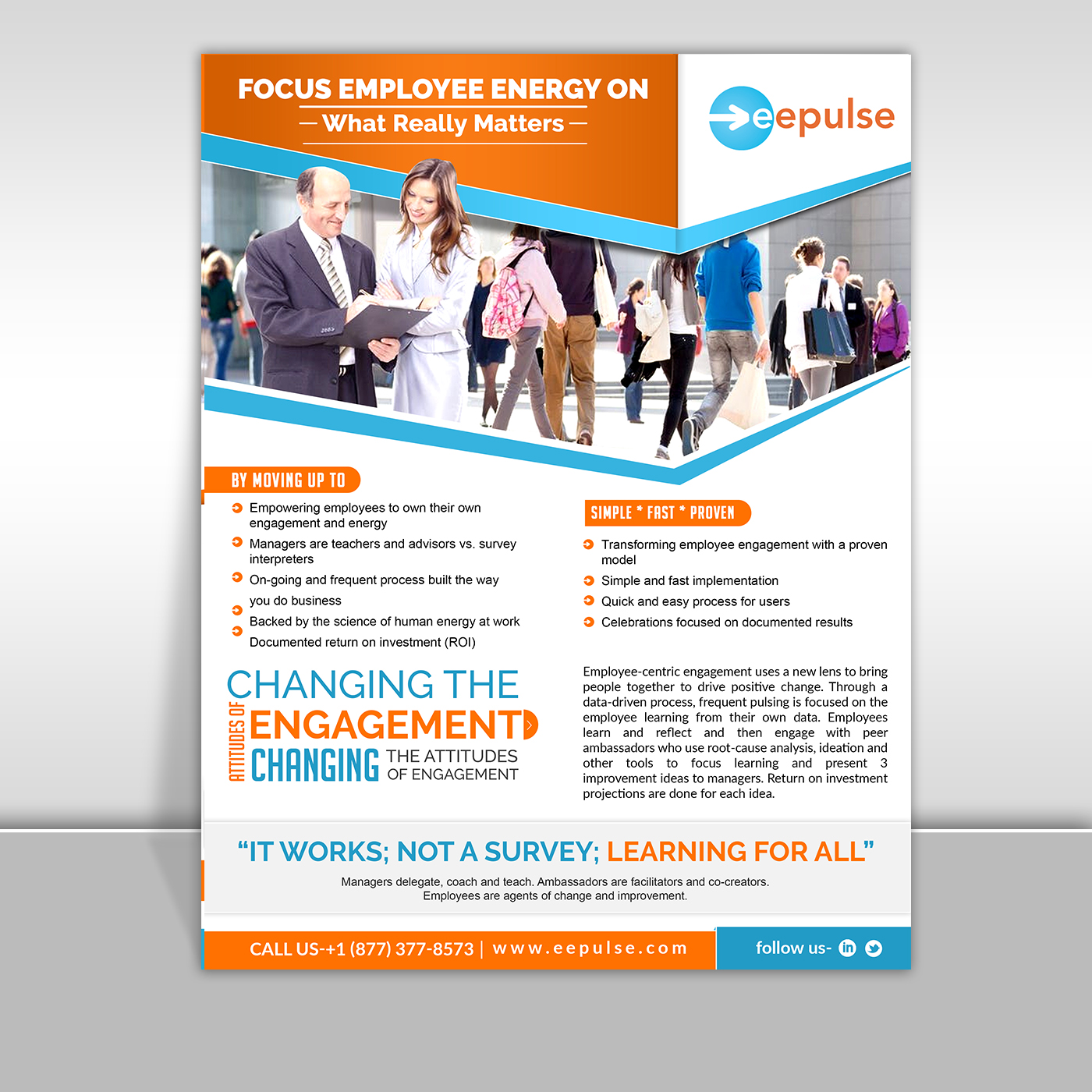 bold professional employee brochure design for eepulse inc by sd