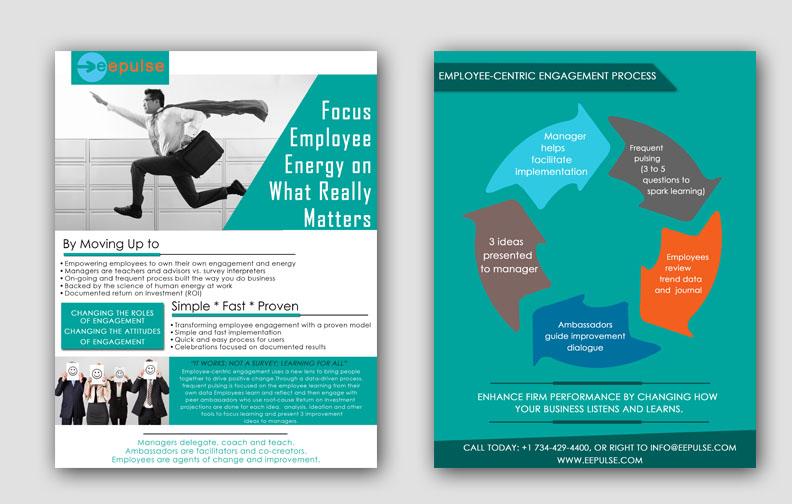 bold professional employee brochure design for eepulse inc by