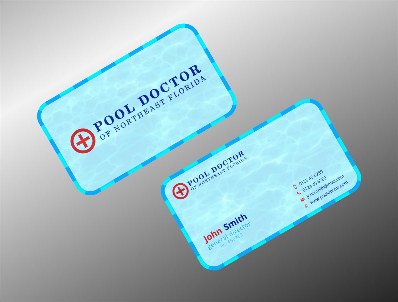 Elegant playful business card design for eric marus by tanama business card design by tanama creations for pool doctor of northeast florida business card design magicingreecefo Image collections