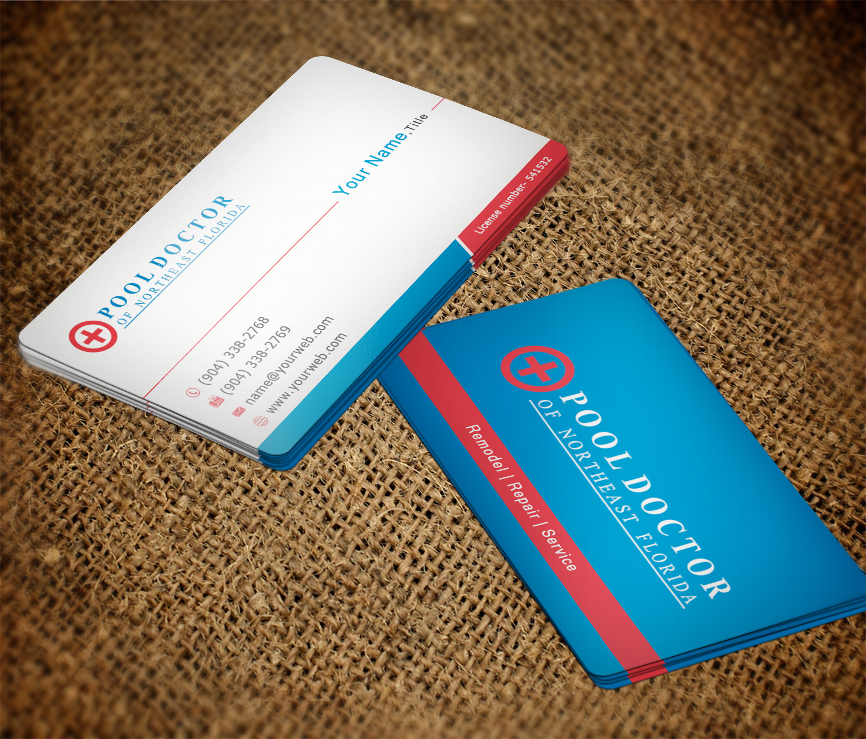 Elegant playful business card design for eric marus by imagine business card design by imagine box for pool doctor of northeast florida business card design magicingreecefo Image collections