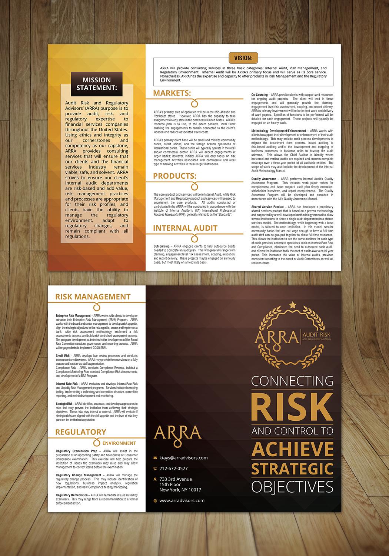 Elegant, Playful, Financial Service Flyer Design for Audit