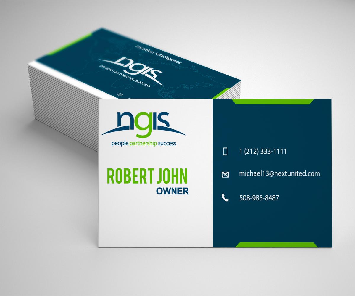 Modern elegant consultant business card design for ngis australia business card design by media rockers for ngis australia design 15564561 reheart Choice Image