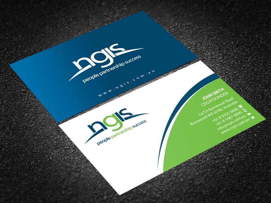 Modern elegant consultant business card design for ngis australia business card design by brand aid for ngis australia design 15563675 reheart Choice Image