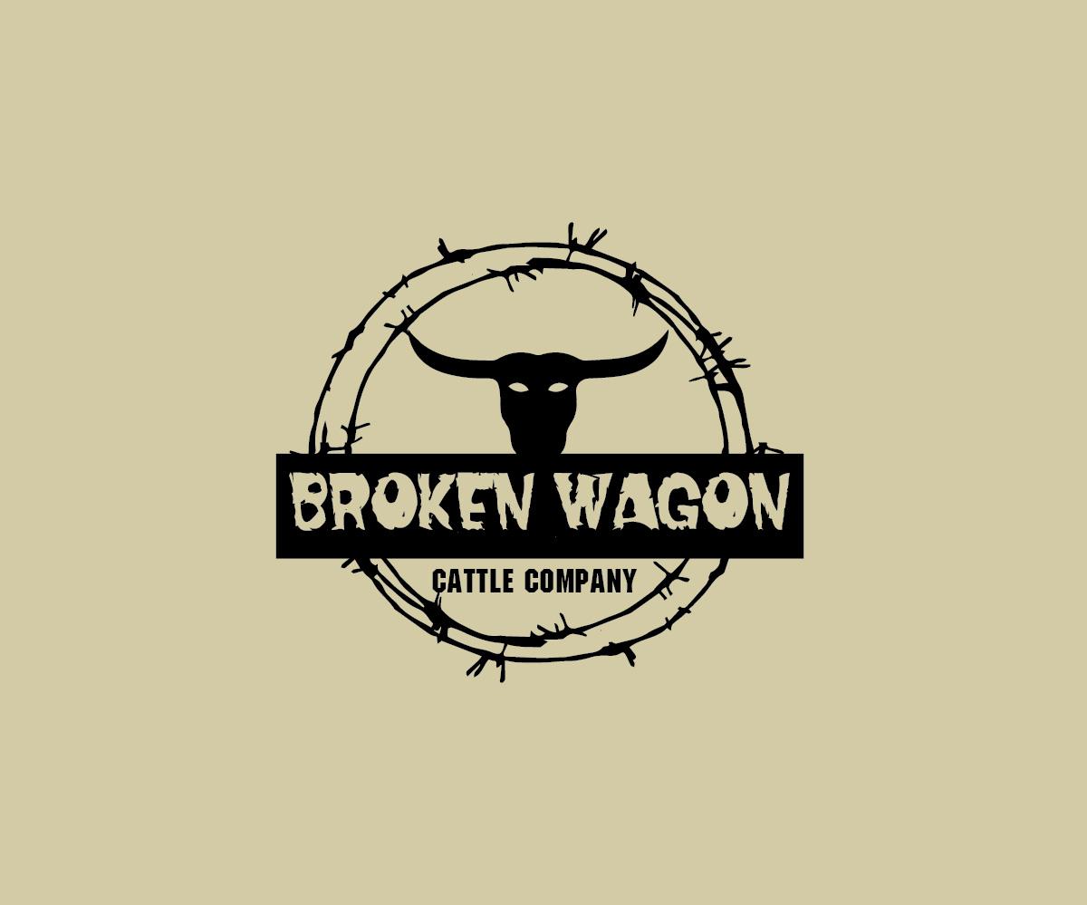 60 elegant playful logo designs for broken wagon cattle