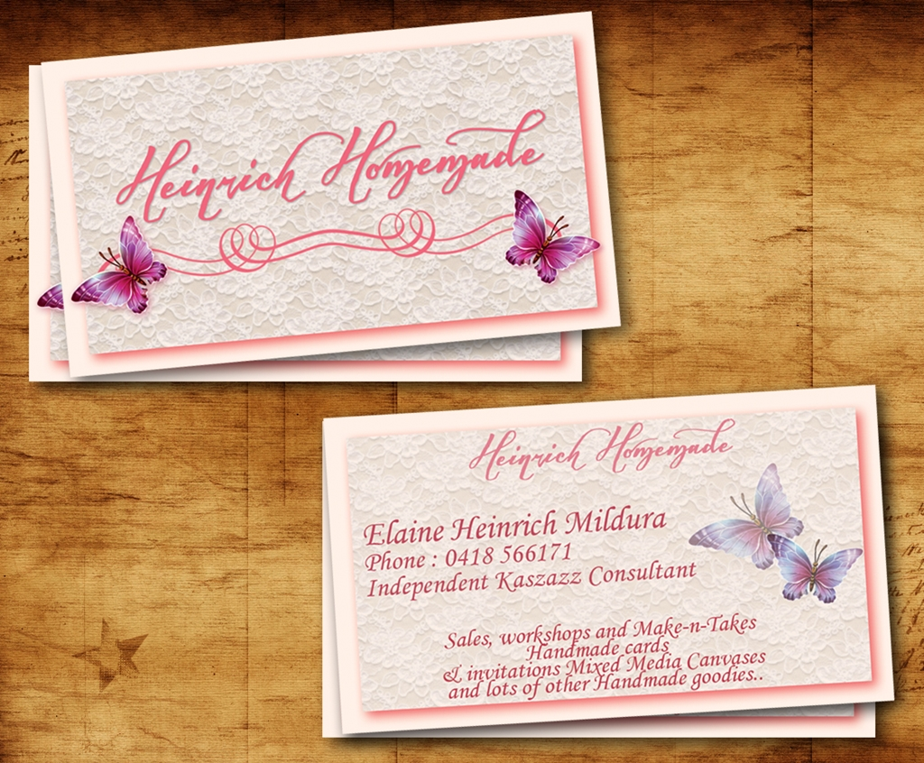 Upmarket conservative business card design for elaine for Handmade items for home
